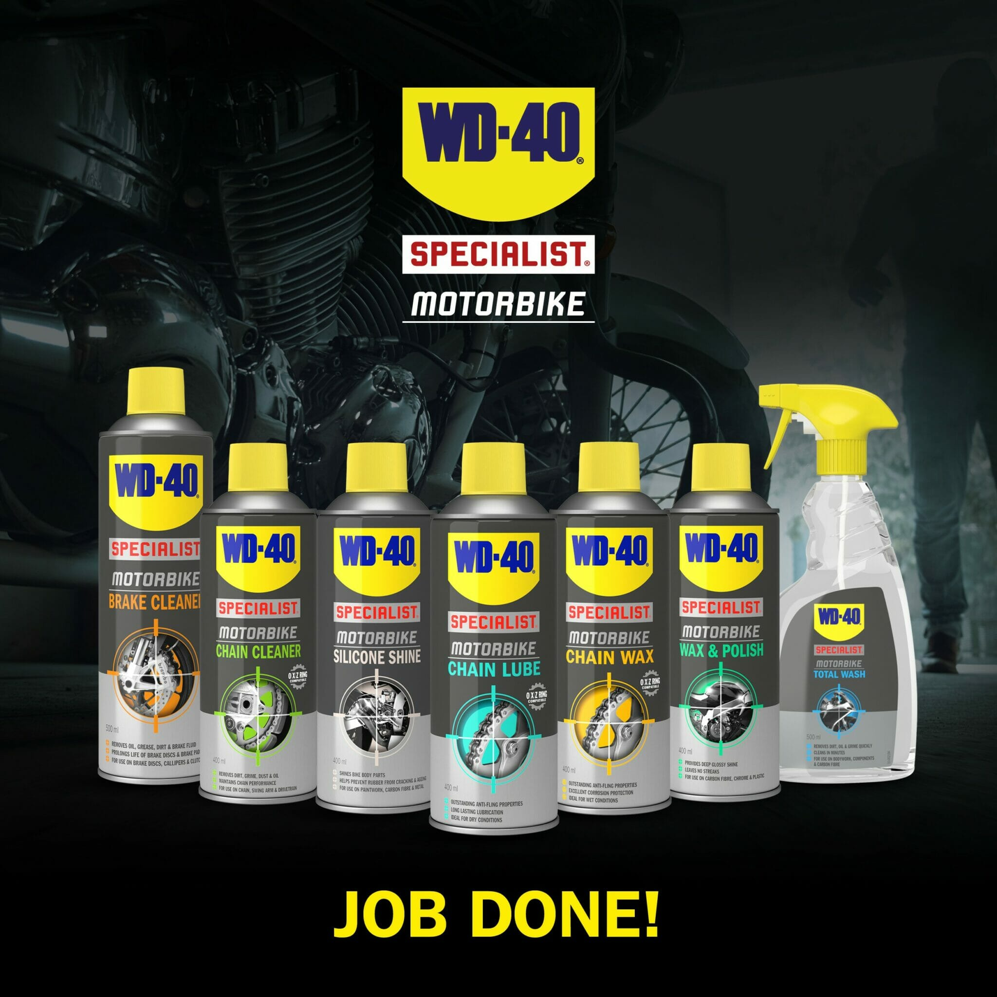 wd40 motorbike silicone shine how to use part 8