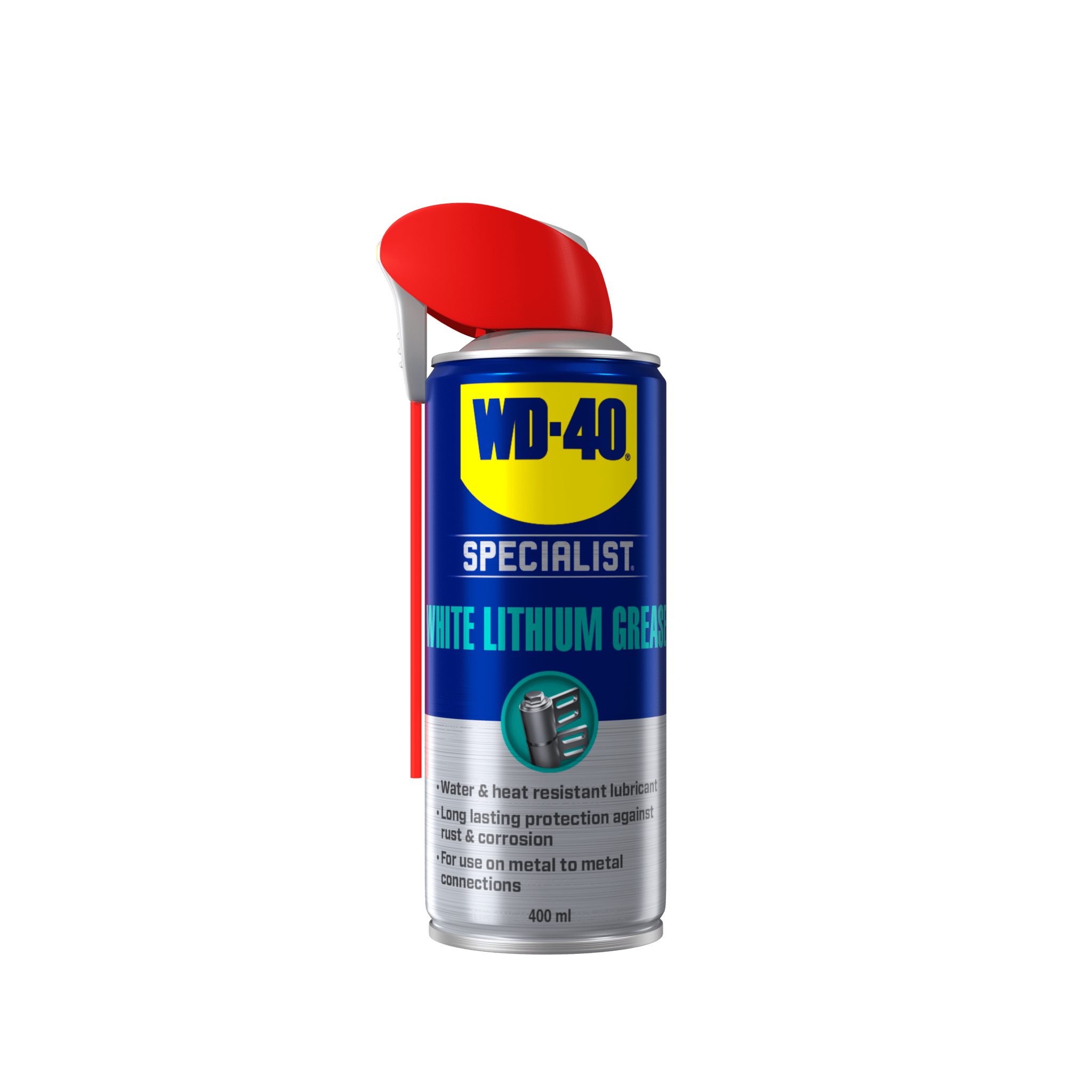 white lithium grease front