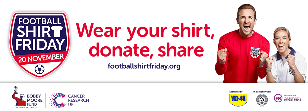#footballshirtfriday in association with the @BobbyMooreFund